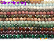 """10mm Natural Round Gemstone Beads For Jewelry Making Loose Beads 15"""" Stone Pick"""