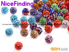 10 Pcs Round Crystal Rhinestones Czech Disco Ball Beads For Jewelry Making 10mm
