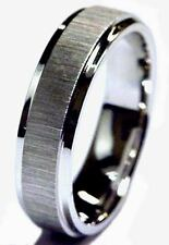 MEN 14K WHITE GOLD WEDDING BAND RING 6 MM WIDE COMFORT FIT DIAMOND CUT BRAND NEW