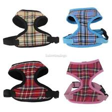 Pet Dog Puppy Plaid Soft Mesh Adjustable Harness Clothes Apparel Size XS-XL