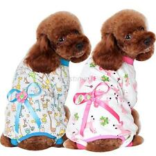 Vogue Pet Dogs Cartoon Bowknot Pajamas Coat Cat Puppy Clothing Clothes Jumpsuits