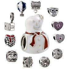 Romacci 925 Sterling Silver Snowman Series Fit European Charms Bead Bracelet