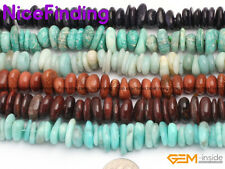 "3-13mm Freeform Heishi Spacer Stone Beads For Jewellery Making 15"" Free Shipping"