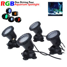 4pcs 36 LED RGB Aquarium Submersible Light For Fish Tank Water Pond Spot Lamp CA