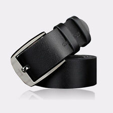 New Mens Belt Metal Buckle Leather Waistband Classic Pin Buckle Business Belts