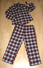 NWT Ralph Lauren Women's NORWICH Flannel 2-Pc Pajamas Set Plaid Top & Pants $68