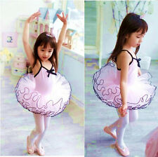 Kids Ballet Dance Dress Party Princess Girls Costume TUTU Dance Leotard Skirt