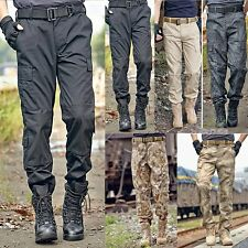 NEW MENS TACTICAL OVERALLS PANTS MILITARY SECURITY CARGO COMBAT ARMY TROUSERS