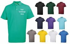 NEW WORKWEAR RTY PERSONALISED CUSTOM PRINTED COMPANY POLO SHIRTS SIZE 6XL-10XL