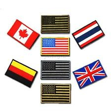 Hot Chic Nation Flag Emblem Patch Embroidered Country Sew Trim Collection