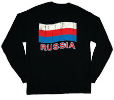 long sleeve t-shirt for men Russia pride Russian flag tee shirt soccer sports