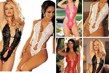 Sexy Lingerie Siamesed Nightwear Underwear Babydoll Sleepwear G-string Dress