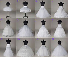 New 12 Styles Bridal Petticoat White Wedding Dress Crinoline/Slips/Underskirt