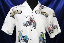 Pacific Legend Motorcycles palm trees hawaiian shirt NEW NWT Medium or XL