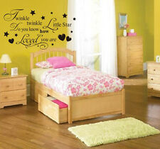 Twinkle Twinkle Little Star Nursery Wall Sticker Decal Quote Baby Child Decor CH