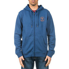 Rip Curl Palm Stamp Mens Hoody Zip - True Navy Marle All Sizes