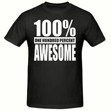 100% AWESOME T SHIRT, FUNNY NOVELTY MENS T SHIRT,SM-2XL