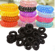 10x Girl Multi-color Elastic Rubber Hair Tie Band Rope Ponytail Holder Scrunchie
