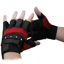 Men Nice Outdoor Soft Leather Gloves Driving Motorcycle Biker Fingerless Gloves