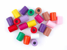 Acrylic Tube Beads 14mm Bright Opaque Mix - UK SELLER