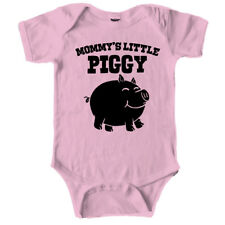 Mommys Little Piggy Cute Piglet Baby Creeper Bodysuit for Infants (Pink)