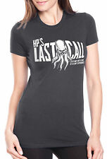 Women's HP's Last Call Cthulhu Shirt Funny Lovecraft Bar Drinking Tee For Ladies
