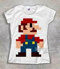 women's T-SHIRT SUPERMARIO PIXEL super mario bros vintage nintendo game boy