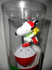 NEW SNOOPY ICE SKATING WITH WOODSTOCK GLITTERING BUBBLE WAND NIGHT LIGHT