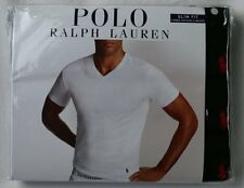 Ralph Lauren Polo 3 pack Black Slim Fit V-Neck T-shirts Tee NWT