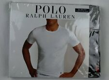 Ralph Lauren Polo 3 pack Grey Black Slim Fit Crew Neck T-shirts Tee NWT