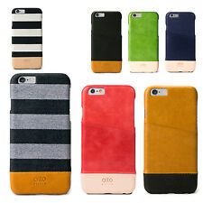 alto Handmade 100% Genuine Real Leather Case Back Cover for iPhone 6 6S Plus US