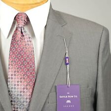 38R SAVILE ROW Solid Grey SUIT SEPARATE  38 Regular Mens Suits - SS22