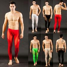 Mens Sexy Low Rise Long Johns Warm Thermal Pants Mesh Underwear Trousers S M L