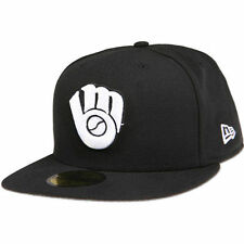 New Era Milwaukee Brewers Black League Basic 59FIFTY Fitted Hat