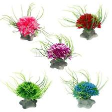 Plastic Grass Artificial Seaweed Aquatic Plant Fish Tank Aquarium Decor 5 Colors