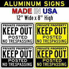 Private Property KEEP OUT No Trespassing 12x8 Aluminum Sign Made in the USA UV