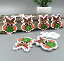 Owl wooden button sewing Scrapbooking Embellishments Crafts 35mm Free Shipping