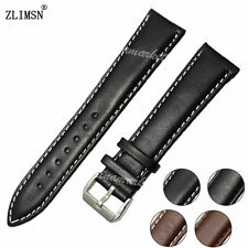 HOT SALE ! 12mm 14mm NEW Smooth Soft 100% Leather Black Brown Watch Band strap