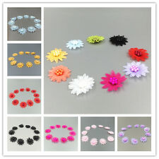 20PCS Satin Ribbon Flower with pearl Wedding Scrapbooking Sewing Appliques 45MM