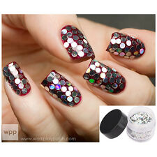 1Pc Nail Art Glitter Hexagon Round Sheets Slices Spangle Powder 3D Decoration