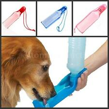 Travel Pet Dog Cat Water Feeding Drink Bottle Dispenser 500ml 3 Color F4O5