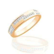 Stylish statement rings 18K gold filled Swarovski crystal jewelry gift Sz6-Sz9