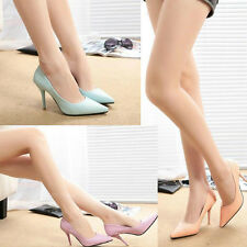 Lady Girls Sexy Mid High Heel Work Pumps Snake Pointy Stiletto Court Smart Shoes