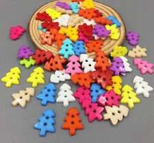 Mixed Colors Resin Buttons Fit Sewing Scrapbooking Christmas tree Buttons 18mm