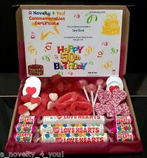 Sweet Chocolate Love Heart Ring Gift Box Personalised Birthday Thank You 21st 50
