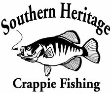 Crappie Decal SH Boat/Truck Window Stickers