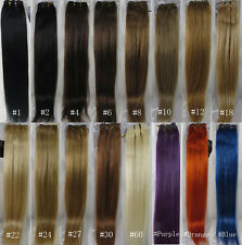 "New 15""-36"" Remy Human Hair Weft Weaving Extensions Straight 100g Width 59"" UK"
