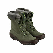 Cushe Allpine Cone Suede Womens Green Suede Casual Dress Lace Up Boots Shoes