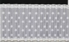 """DALLAS FLORAL CAFE NET CURTAIN WHITE LACE CURTAIN 12"""" 18"""" 24"""" DROPS AVAILABLE"""