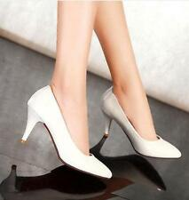 New Ladies Womens Patent Leather Pointed toe High Heel Pumps Dress Shoes UK Size